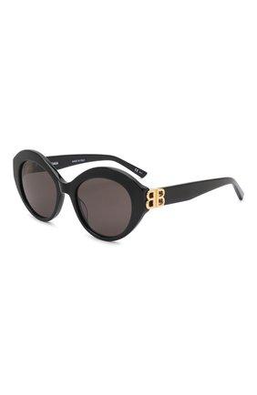 Женские солнцезащитные очки BALENCIAGA черного цвета, арт. 648054/T0001 | Фото 1