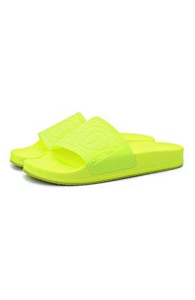 Женские шлепанцы MM6 светло-зеленого цвета, арт. S59WX0060/P3996 | Фото 1