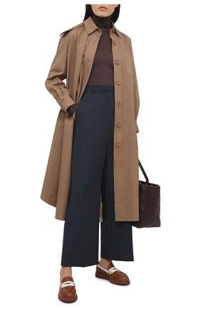 Женские кожаные лоферы TOD'S коричневого цвета, арт. XXW05E0EB60PQG | Фото 2