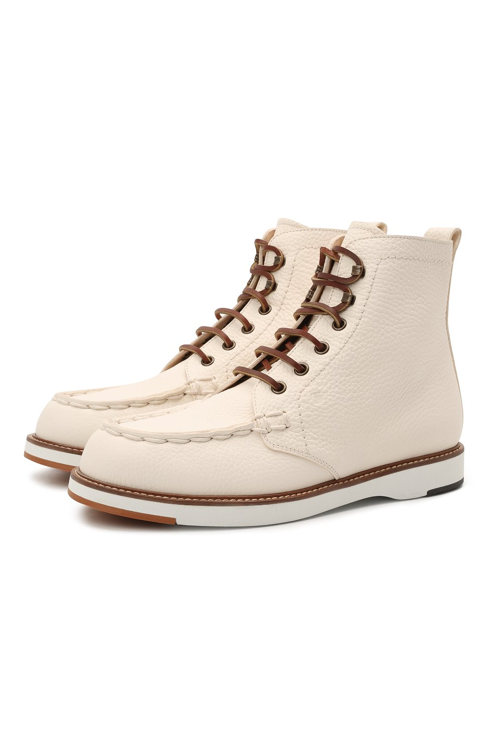 Женские кожаные ботинки TOD'S белого цвета, арт. XXW05E0EF70EK0 | Фото 1