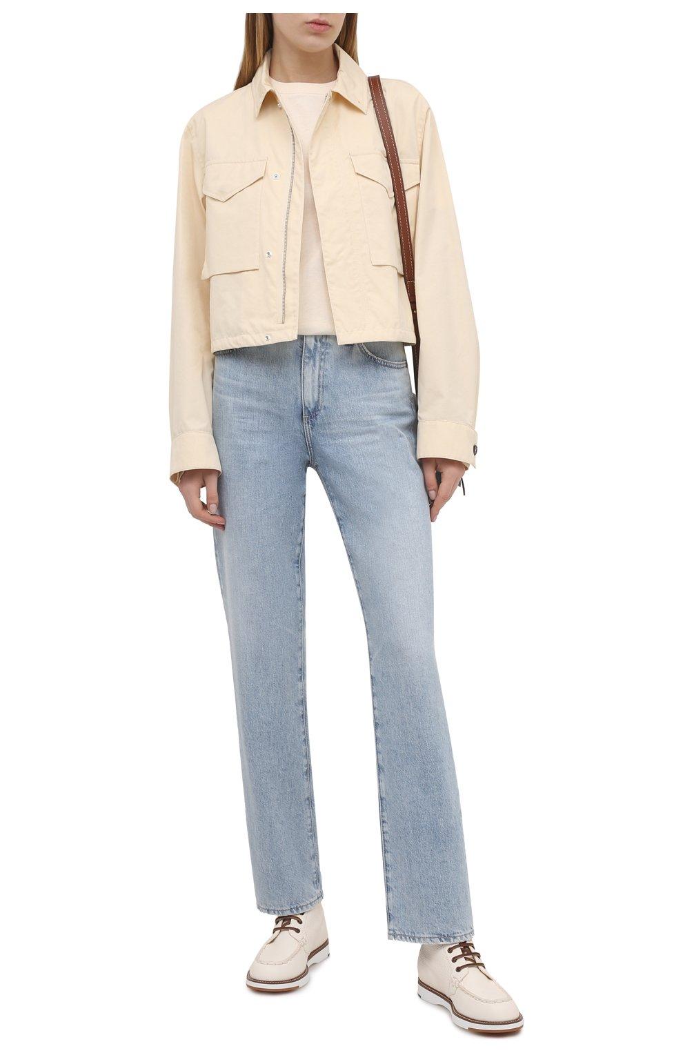 Женские кожаные ботинки TOD'S белого цвета, арт. XXW05E0EF70EK0 | Фото 2