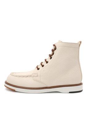 Женские кожаные ботинки TOD'S белого цвета, арт. XXW05E0EF70EK0 | Фото 3