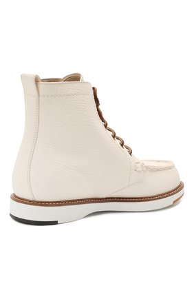 Женские кожаные ботинки TOD'S белого цвета, арт. XXW05E0EF70EK0 | Фото 4