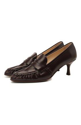 Женские кожаные туфли TOD'S бордового цвета, арт. XXW09D0EC900G9 | Фото 1