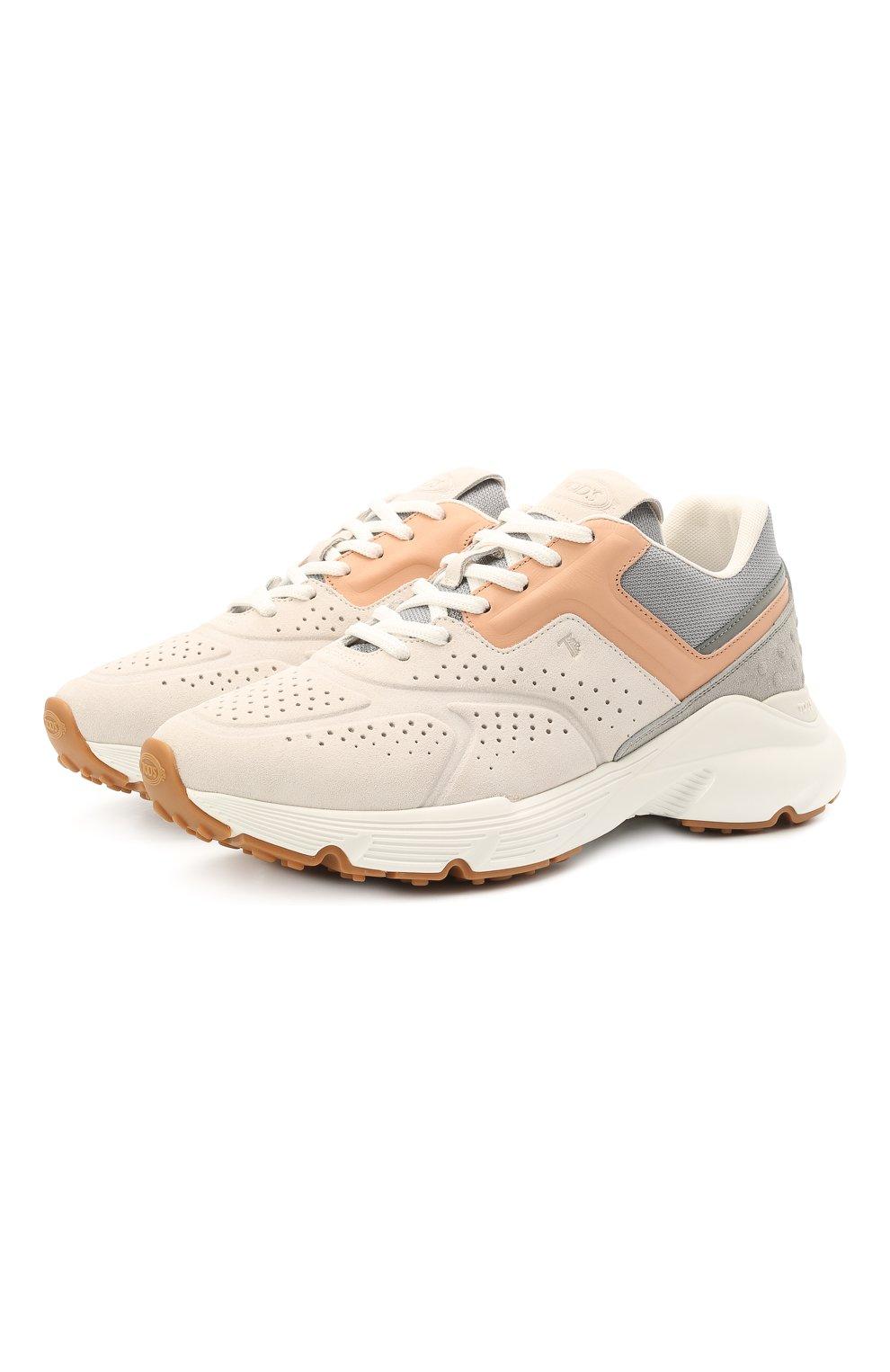 Женские комбинированные кроссовки TOD'S светло-серого цвета, арт. XXW54C0EF41PWK | Фото 1