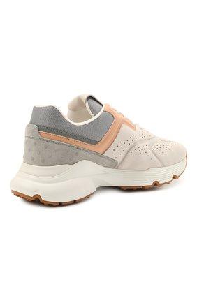 Женские комбинированные кроссовки TOD'S светло-серого цвета, арт. XXW54C0EF41PWK | Фото 4
