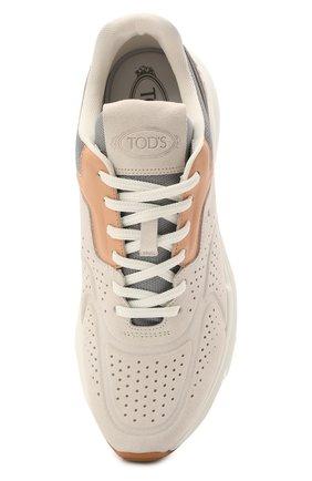 Женские комбинированные кроссовки TOD'S светло-серого цвета, арт. XXW54C0EF41PWK | Фото 5