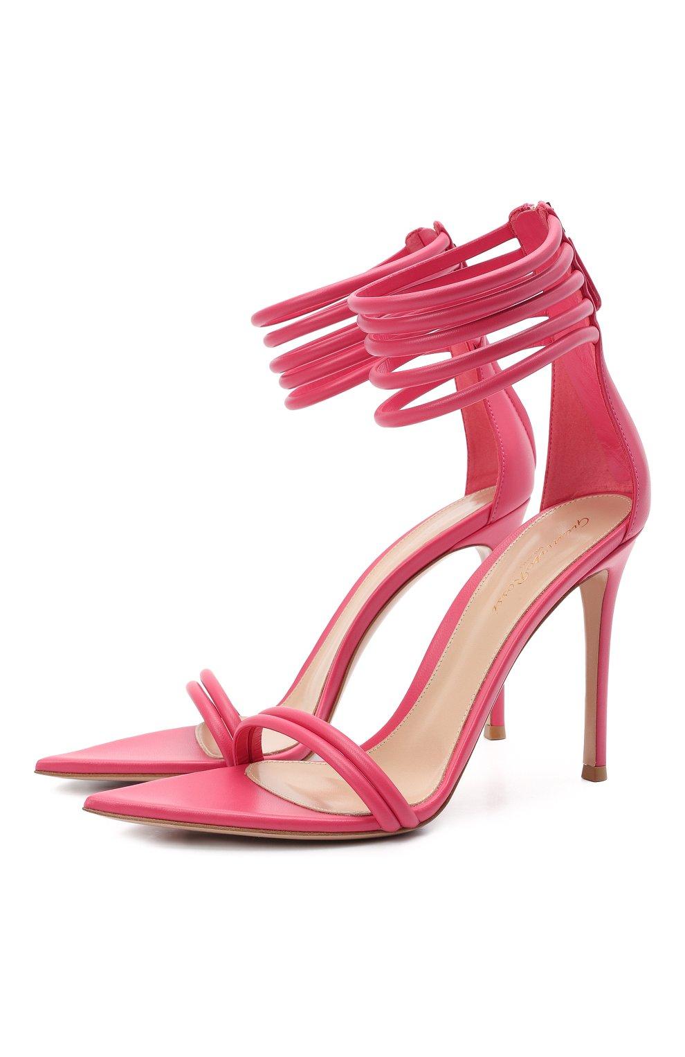 Женские кожаные босоножки dala GIANVITO ROSSI розового цвета, арт. G61695.15RIC.NAPRUR0 | Фото 1
