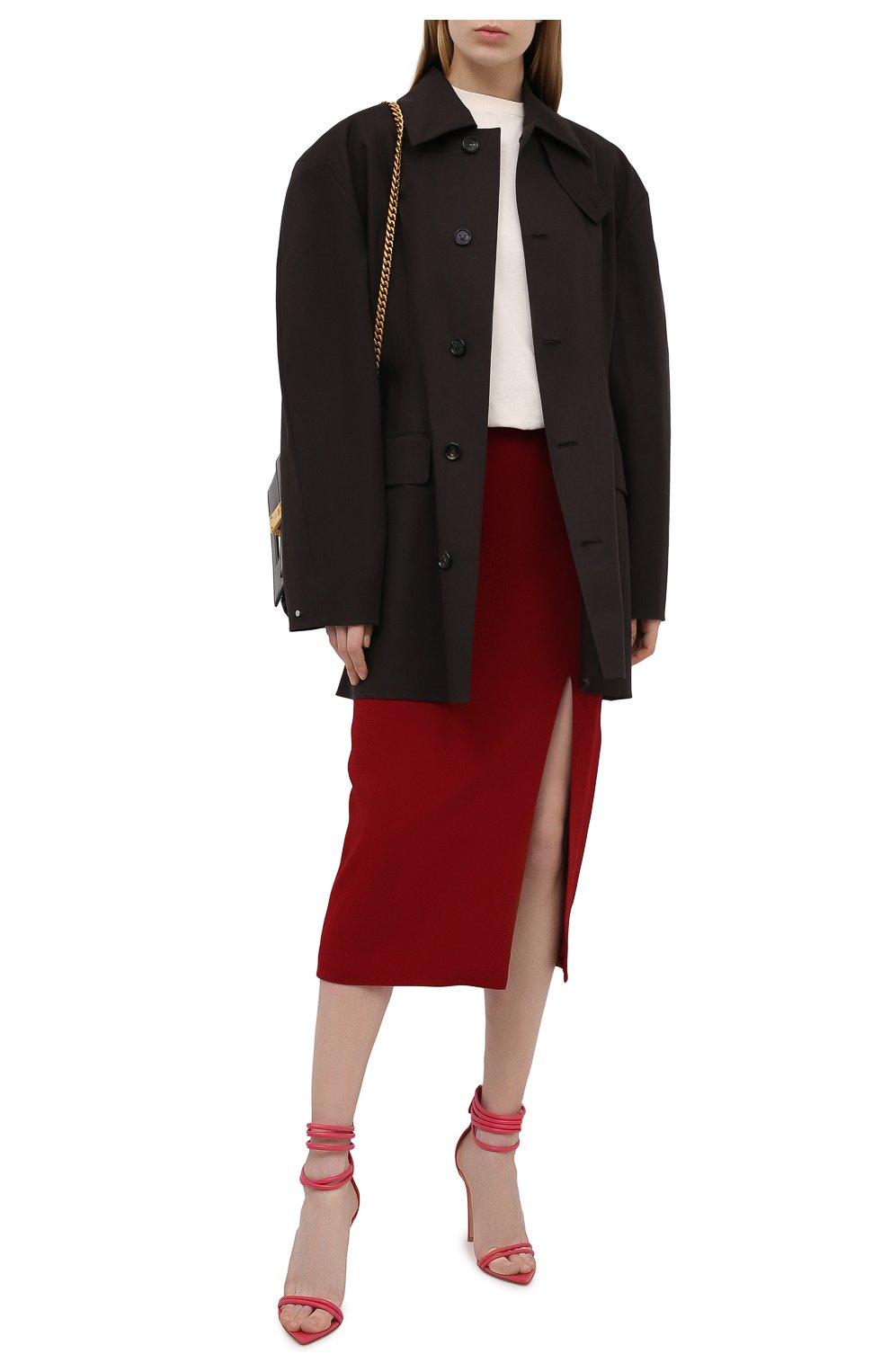 Женские кожаные босоножки dala GIANVITO ROSSI розового цвета, арт. G61695.15RIC.NAPRUR0 | Фото 2