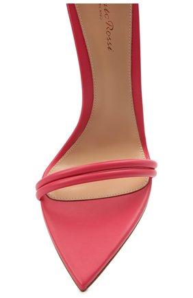 Женские кожаные босоножки dala GIANVITO ROSSI розового цвета, арт. G61695.15RIC.NAPRUR0 | Фото 5