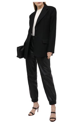Женские кожаные мюли lock me 85 CHRISTIAN LOUBOUTIN черного цвета, арт. 1210575/L0CK ME 85   Фото 2
