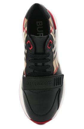 Женские комбинированные кроссовки ramsey BURBERRY черного цвета, арт. 8038184   Фото 5