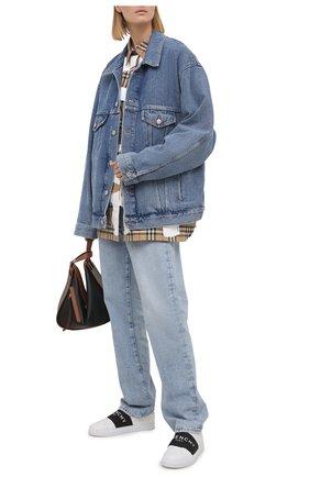 Женские кожаные кеды urban street GIVENCHY черно-белого цвета, арт. BE0005E0DD | Фото 2