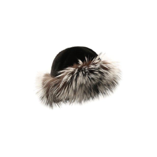 Шапка-ушанка Кристен из меха норки и лисы FurLand