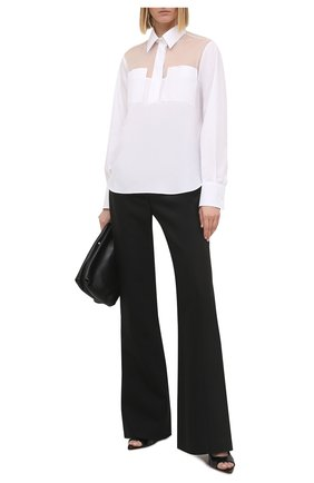Женская хлопковая блузка VALENTINO белого цвета, арт. VB3AB2004HP | Фото 2