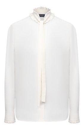 Женская шелковая блузка POLO RALPH LAUREN кремвого цвета, арт. 211831832 | Фото 1