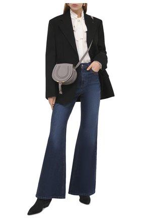 Женская шелковая блузка POLO RALPH LAUREN кремвого цвета, арт. 211831832 | Фото 2