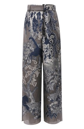 Женские брюки GIORGIO ARMANI серого цвета, арт. 1SHPP0G0/T029Q | Фото 1