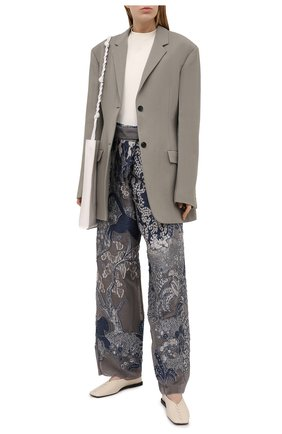 Женские брюки GIORGIO ARMANI серого цвета, арт. 1SHPP0G0/T029Q | Фото 2