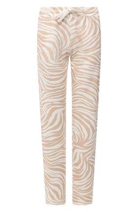 Женские хлопковые брюки EVA B.BITZER бежевого цвета, арт. 11323368 | Фото 1