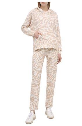 Женские хлопковые брюки EVA B.BITZER бежевого цвета, арт. 11323368 | Фото 2
