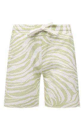 Женские хлопковые шорты EVA B.BITZER светло-зеленого цвета, арт. 11323345 | Фото 1