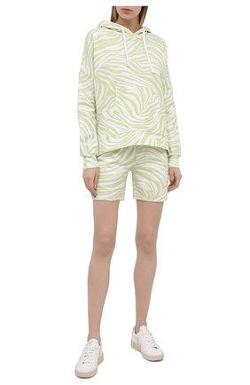 Женские хлопковые шорты EVA B.BITZER светло-зеленого цвета, арт. 11323345 | Фото 2