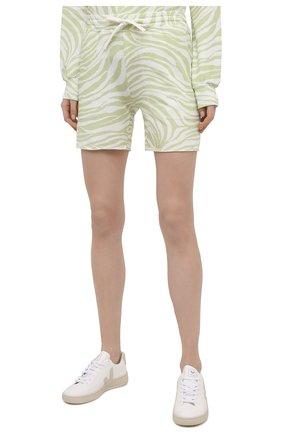 Женские хлопковые шорты EVA B.BITZER светло-зеленого цвета, арт. 11323345 | Фото 3 (Длина Ж (юбки, платья, шорты): Мини; Женское Кросс-КТ: Домашние шорты; Материал внешний: Хлопок)