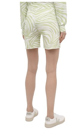 Женские хлопковые шорты EVA B.BITZER светло-зеленого цвета, арт. 11323345 | Фото 4 (Длина Ж (юбки, платья, шорты): Мини; Женское Кросс-КТ: Домашние шорты; Материал внешний: Хлопок)