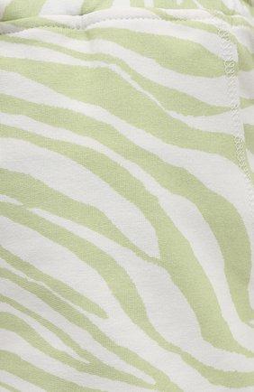 Женские хлопковые шорты EVA B.BITZER светло-зеленого цвета, арт. 11323345 | Фото 5 (Длина Ж (юбки, платья, шорты): Мини; Женское Кросс-КТ: Домашние шорты; Материал внешний: Хлопок)