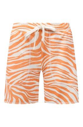 Женские хлопковые шорты EVA B.BITZER оранжевого цвета, арт. 11323345 | Фото 1