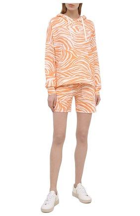 Женские хлопковые шорты EVA B.BITZER оранжевого цвета, арт. 11323345 | Фото 2