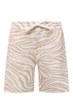 Женские хлопковые шорты EVA B.BITZER бежевого цвета, арт. 11323345 | Фото 1