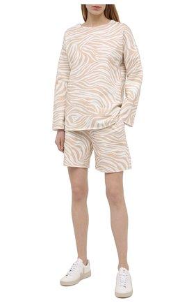 Женские хлопковые шорты EVA B.BITZER бежевого цвета, арт. 11323345 | Фото 2