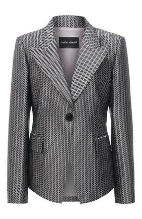 Женский жакет GIORGIO ARMANI серого цвета, арт. 1SHGG0KP/T02A5 | Фото 1