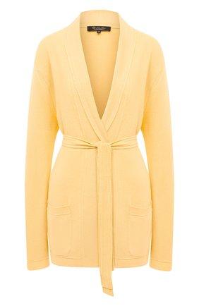 Женский кашемировый кардиган LORO PIANA желтого цвета, арт. FAL5050 | Фото 1