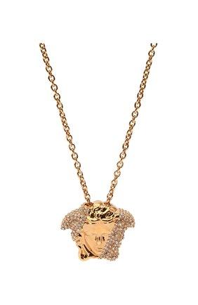 Женская кулон на цепочке medusa VERSACE золотого цвета, арт. DG1I024/DJMX | Фото 2 (Материал: Металл)