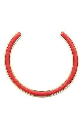 Женское колье JIL SANDER красного цвета, арт. JSPS831104/WSS80050 | Фото 1 (Материал: Металл)