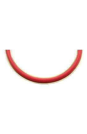 Женское колье JIL SANDER красного цвета, арт. JSPS831104/WSS80050 | Фото 2 (Материал: Металл)