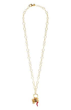 Женская кулон на цепочке HYPSO золотого цвета, арт. SAUT0IR H0PFULL   Фото 1