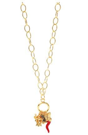 Женская кулон на цепочке HYPSO золотого цвета, арт. SAUT0IR H0PFULL   Фото 2
