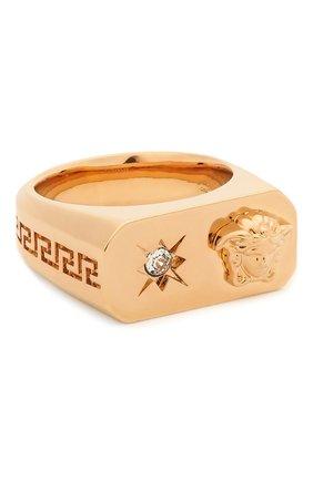 Женское кольцо charm VERSACE золотого цвета, арт. DG5I023/DJMX | Фото 1 (Материал: Металл)