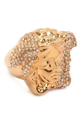 Женское кольцо medusa VERSACE золотого цвета, арт. DG5I026/DJMX | Фото 1 (Материал: Металл)