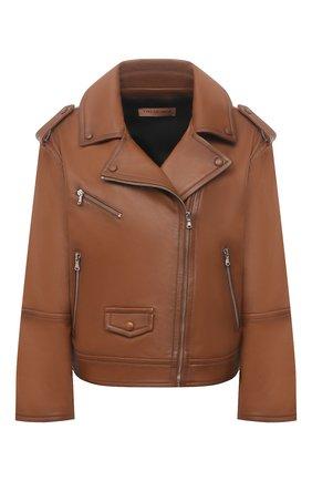Женская кожаная куртка YVES SALOMON коричневого цвета, арт. 21EYV21755APAN | Фото 1