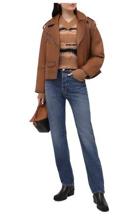 Женская кожаная куртка YVES SALOMON коричневого цвета, арт. 21EYV21755APAN | Фото 2