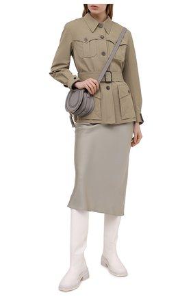 Женская хлопковая куртка CHLOÉ зеленого цвета, арт. CHC21SVE04047 | Фото 2