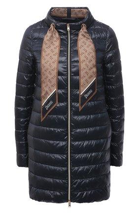 Женская пуховая куртка HERNO темно-синего цвета, арт. PI1267D/12017 | Фото 1