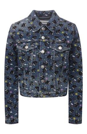 Женская джинсовая куртка BALENCIAGA синего цвета, арт. 625992/TJW56 | Фото 1