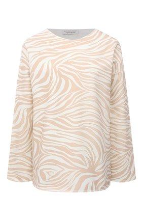 Женская хлопковый пуловер EVA B.BITZER бежевого цвета, арт. 11323334 | Фото 1