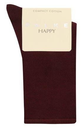 Женские хлопковые носки happy FALKE бордового цвета, арт. 46417 | Фото 1